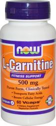 Now Foods L-carnitine 500mg 60v-caps