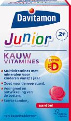 Davitamon Junior 2 Kauwtabletten Aardbei