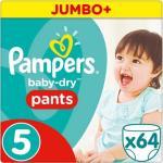 Pampers Broekjes Baby Dry Pants Maat-5 Junior 11-18kg Jumbo Pluspack