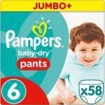 Pampers Broekjes Baby Dry Pants Maat-6 Extra Large 15kg Jumbo Pluspack