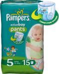 Pampers Luierbroekjes Maat 5 Active Boy Pants 15 Stuks
