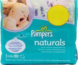 Pampers Baby Doekjes Natural 63 Stuks