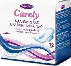 Sweet Care Maandverband Ultra Dun Langnacht 12 Stuks