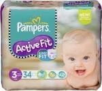 Pampers Active Fit Luiers Maat 3 34 Stuks