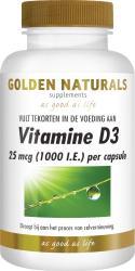 Golden Naturals Vitamine D3 25mcg