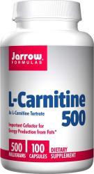 Jarrow Formulas L-carnitine 500, 500 Mg 100 Capsules