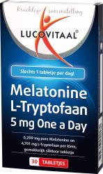 Lucovitaal Melatonine L-tryptofaan 5mg