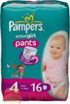 Pampers Baby Luiers Active Girl Pants Maxi 4 16 Stuks