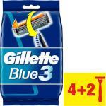 Gillette Blue3 Wegwerpmesjes 4+2 Stuks