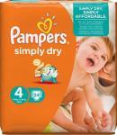 Pampers Luiers Simply Dry Maat-4 Maxi 7-18kg Draagpak
